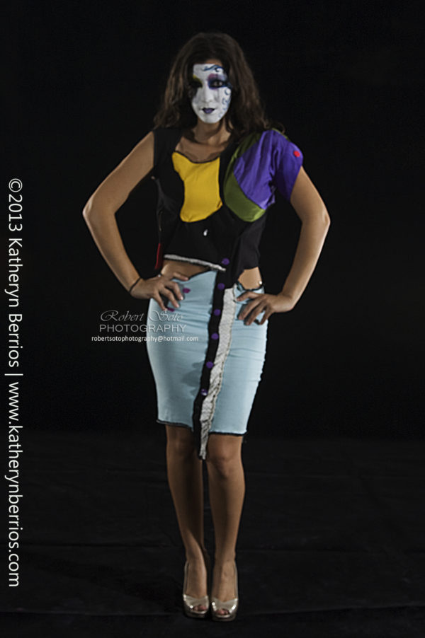Diseñadora de Indumentaria peruana. Vestido Rompecabeza.