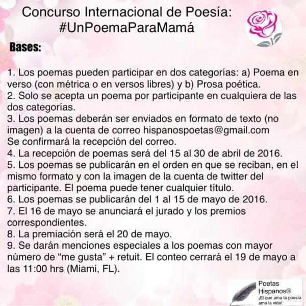 Poesía: Concurso Internacional