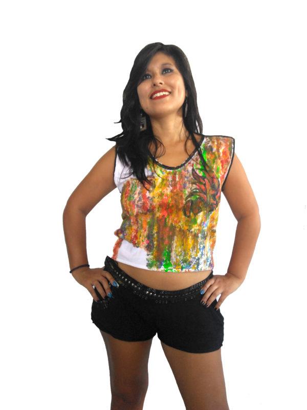 T-shirt Cascada de Color II