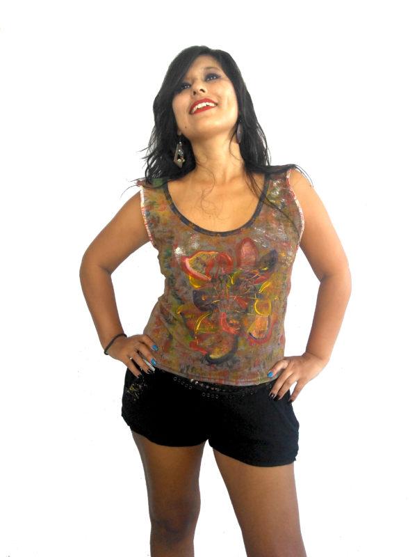 T-shirt Pétalos-Fusión líneas