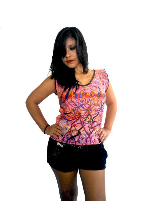T-shirt conductos coloridos-Moteado