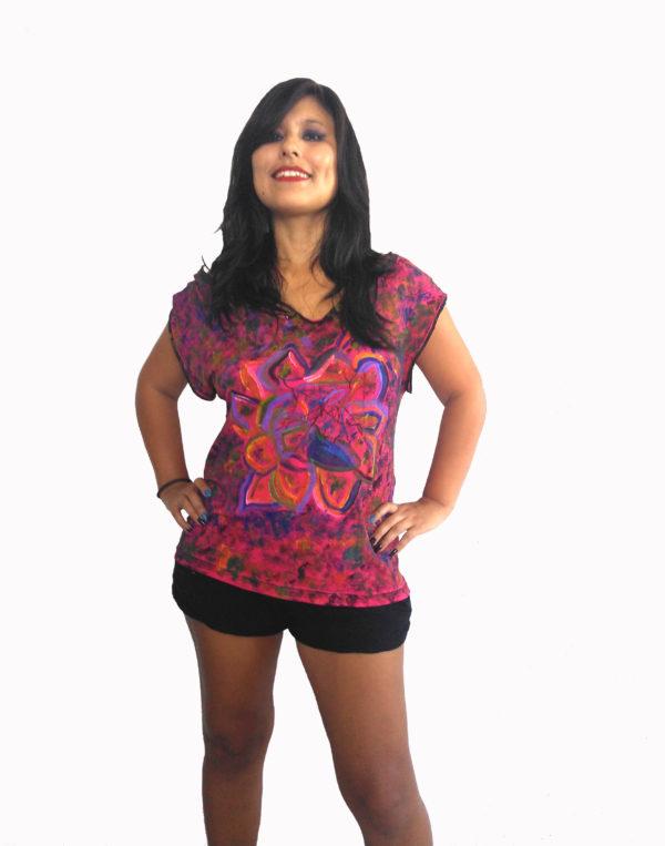 T-shirt Pétalos-Fusión líneas Niveles