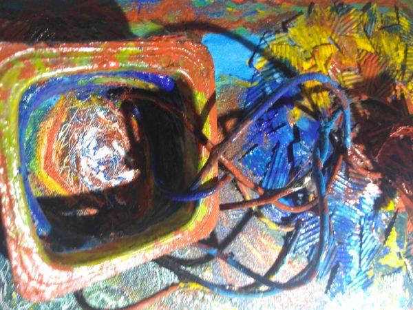 Modern Art. 3d Sculpture. Remolinos-Corazón.
